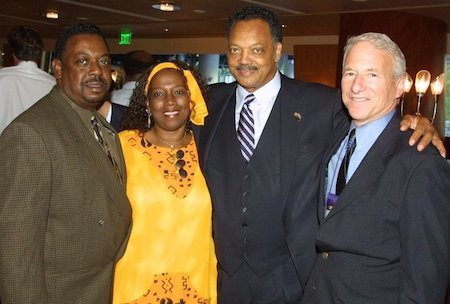 Former Executive Vice President Patricia Ford with other social justice leaders including Rev. Jesse Jackson and Former SEIU President Andrew Stern