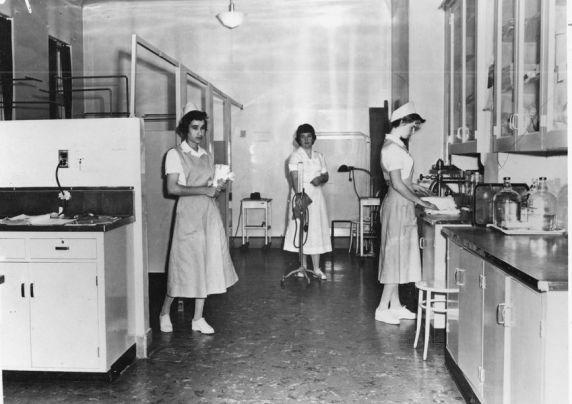 Workers at San Francisco General Hospital, c. 1937